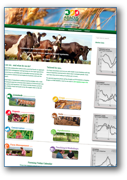Abacus Agriculture Website Example