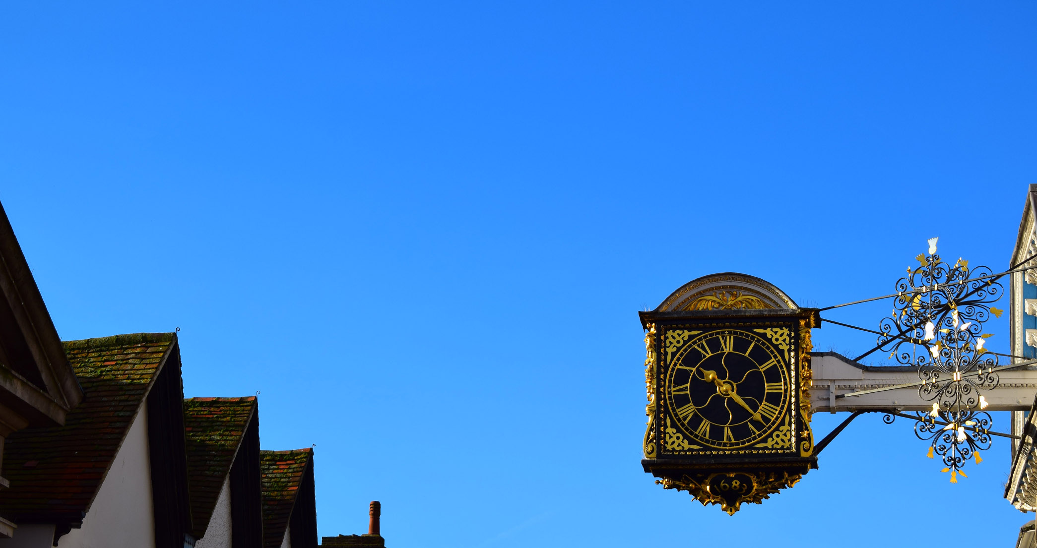 Clock on Guildford High Street Surrey