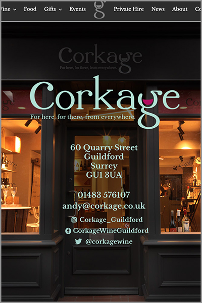 feature Corkage Wine Bar Guildford