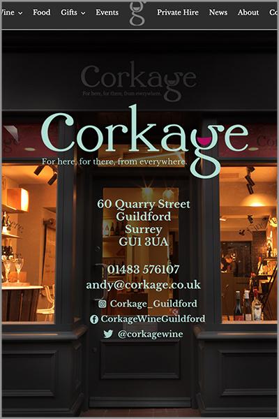 Corkage Website