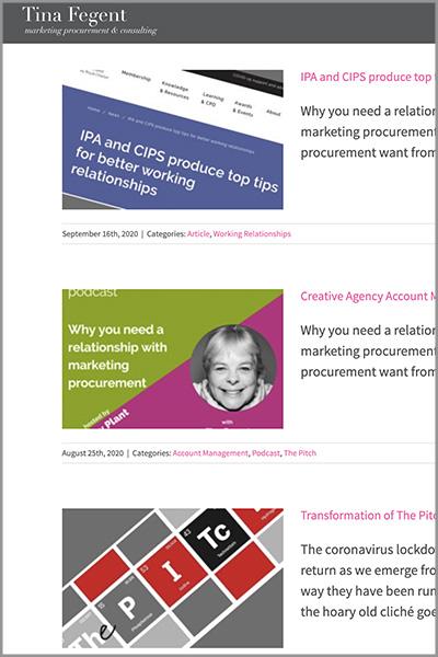 Tina Fegent Consultancy Website