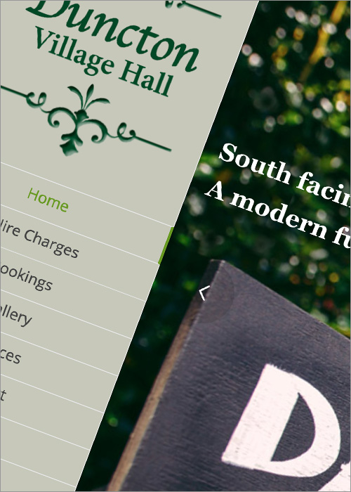 Duncton Village Hall Website