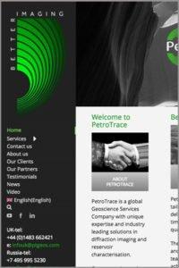 Petrotrace website