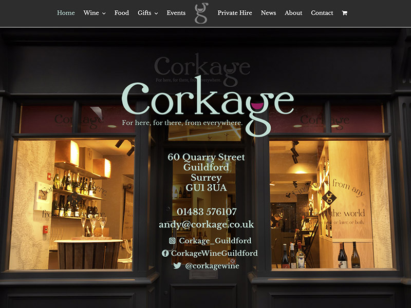 Wine Bar Guildford Website