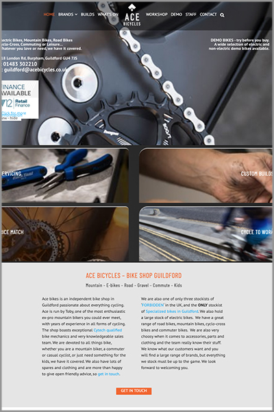 Ace Bicycles Website