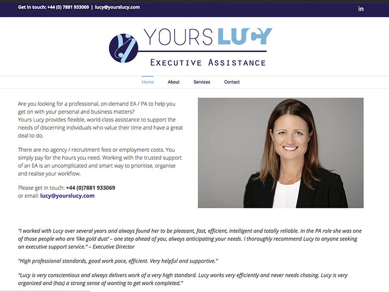 Yours Lucy Website